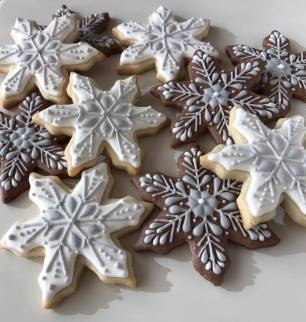 Snowflake cookies winter 2017