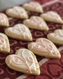 Paige's Designer Cookies Flowing hearts
