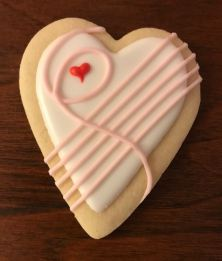 Paige's Designer Cookies musical heart