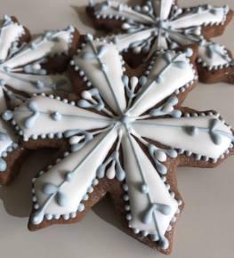 Paige's Designer Cookies Snowflake blue chocolate