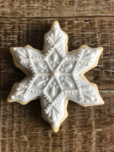 Paige's Designer Cookies snowflake blue white 2